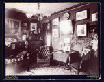 Photograph of a room in an unknown residence in NYC c. 1868