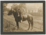 [Mailman on horseback, Seguin, Texas]
