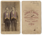 [Two men wearing fraternal order organization collars]