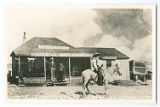 Judge Roy Bean In Front of His Law Office - Langtry, Texas
