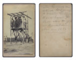 The gallows on which Rodgers (a soldier), Garza, Vicente Garcia, [and] Vela were hanged at...