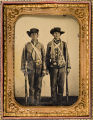 [Private Emzy Taylor (left), Confederate from Georgetown, Texas]