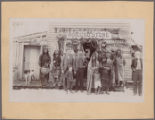[Group Portrait in Front of Ruidoso Store and Post Office]