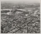 Trinity River - Downtown Dallas looking southwest (unlabeled)
