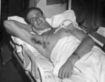 Soldier with shrapnel wounds, Southern France en route to Naples