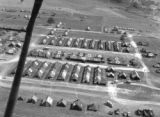 Aerial view of an evacuation hospital near Cassino