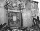 Exposed interior of church destroyed by lava, San Sebastiano al Vesuvio, 1944