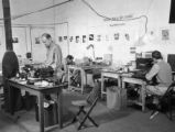 Workroom of the photo lab, 3rd and 6th detachments, Medical Museum and Arts Service, Naples