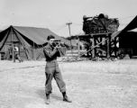 Melvin Shaffer with Cine Special, 8th Evacuation Hospital Italy, 1944