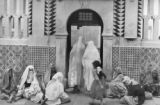 Moslem women waiting at department store, Algiers, 1943