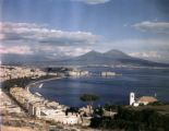 Naples and Mt. Vesuvius, April 1945