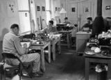 Headquarters and workspace of the 3rd detachment, MAMAS, La Mostra, Naples, Italy, 1945