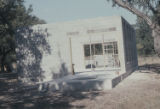 My studio in construction, Bandera, Tex., 1978