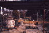 Foundry and burnout kiln, my studio at Barnett St., Dallas, Tex., 1969