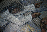 8th Station Detail, Tessera on Paper, St. Bernard Mosaic, Dallas, Tx., Medellin