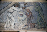8th Station, St. Bernard Mosaic, Tessera on Paper, Dallas, Texas, O. Medellin