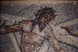 10th Station of the Cross, Mosaic, Detail, Tessera on Paper, Dallas, Tx., O. Medellin, St....