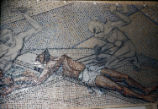 St. Bernard Mosaic, 11th Station, Tessera on Paper, Dallas, Tx., O. Medellin