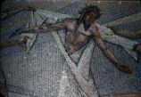 St. Bernard Mosaic Detail, 10th Station, Tessera on Paper, Dallas, Tx., O. Medellin