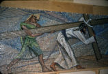 5th Station, St. Bernard Mosaic, Tessera on Paper, Dallas, Tx., O. Medellin