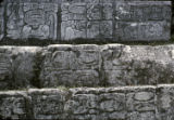 Central Temple, Steps with Carvings in Rec Court, Palenque, Chiapas
