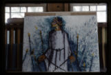 Stations of the Cross mosaic on plexiglass, St. Paul the Apostle, Richardson, Tex., 1961