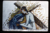 4th Station, mosaic, St. Paul the Apostle, Richardson, Texas, mosaic on plexiglass