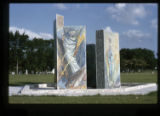 ''The Glorious Mysteries'', mosaic pylons, Calvary Hill Cemetery, Dallas, Tex. 1963-1965