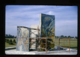 ''The Glorious Mysteries'', mosaic pylons, installation, Calvary Hill Cemetery, Dallas, Tex.,...