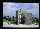 ''The Glorious Mysteries'', application of mosaic, Medrano assisting, Calvary Hill Cemetery,...
