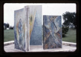 ''The Glorious Mysteries'', mosaic pylons, Calvary Hill Cemetery, Dallas, 1963-1965