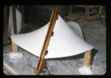 ''The Trinity'', construction of plaster chapel model for glass, Capilla del Colegio, Mex.,...