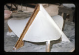 ''The Trinity'', constructing plaster model of chapel in scale, Capilla del Colegio, Mex., S.L.P.,...