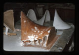 ''The Trinity'', making of plaster parabolas for chapel model, Capilla del Colegio, Mex., S.L.P.,...