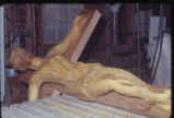 [Crucifix, Bois d'Arc Wood Carving. St. Andrew Catholic Church]