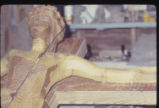 Crucifix, Detail, Sections 1, 2, 3. Jointed Bois d'Arc Carving. St. Andrew Catholic Church, Fort...