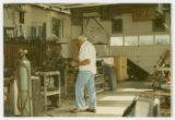 Working in my Studio, Bandera, TX.