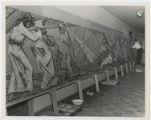 [Michael Kostavsky Working on 8th, 9th, and 10th Stations, Tesserae on Paper, Stations of the...