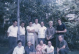 Glass seminar. All members of the seminar. Toledo, Ohio. 1962.