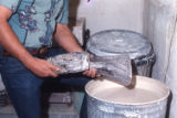 Dipping wax into investment, Medellin School, C.A.C., Dallas, 1973