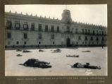 Dead outside National Palace during one of the outbreaks, Mexico City