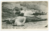 F. Villas men. These men was executed too [sic] miles op. Agua Prieta Mexico. Jan 1916.