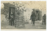 [Mexican soldiers, one aiming rifle and one on horseback]