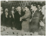 [President Huerta (center left) and Felix Diaz (center right) at Diaz' farewell banquet]