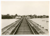 [Railroad tracks across water, Mexico]