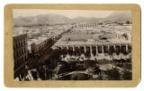 [Bird's-eye view of Chihuahua park and city]