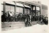 [Armed American Company employees and Arizona Rangers guard Company store during miners' strike,...