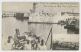 View of notorious political prison, San Juan de Ulloa [sic], Vera Cruz harbor, U. S. Jackies in...