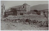 View of Mitla Church built in the Ruins