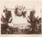 [Celebrating the Inauguration of the Mexico, Cuernavaca & Pacific Railway in Cuernavaca]